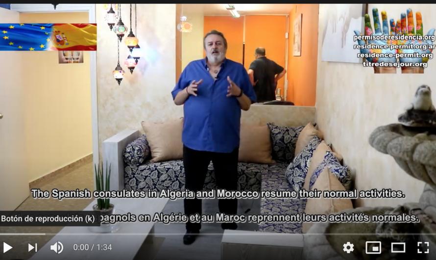 تستأنف القنصليات الإسبانية في الجزائر والمغرب نشاطها الطبيعي